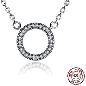 Jewelry - Sterling Silver Circle Necklace